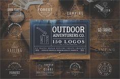 150 Outdoor Adventurers Logos by Zeppelin Graphics on @creativemarket