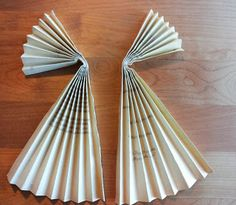 Paper Angels Diy Christmas Decorations Book Folding Kassamartat Paperienkeli Kierratysmateriaaleista