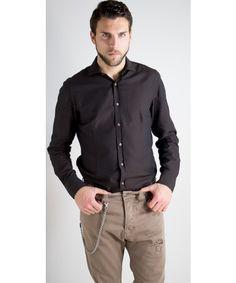 Camicia Oxford in cotone dalla vestibilità regolare disponibile in diversi colori - John Ferretto