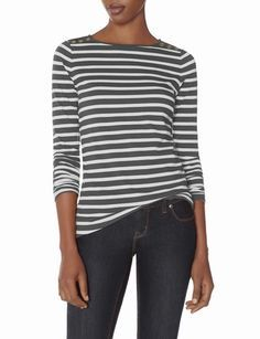 Striped Shoulder Detail Top from THELIMITED.com #ItsTime #TheLimited