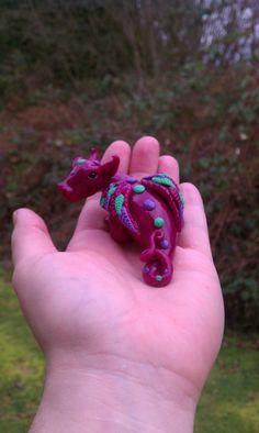 Ooak polymer clay dragon by ARAartisticcreations on Etsy, $30.00