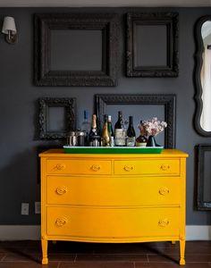 sunshine yellow dresser