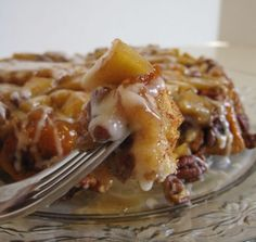 Upside-Down Cinnamon Apple Coffee Cake - a great way to use up those apples in the Fall