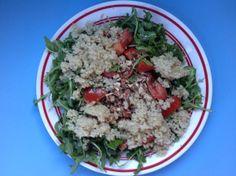 Quinoa, Almond, Tomato Salad