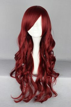 70cm/60cm Long Burhundy Beautiful lolita wig Anime Wig