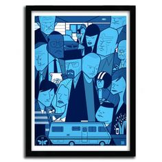 BREAKING BAD BY ALE GIORGINI // Limited to 50 copies. with certificate of authenticity signed Support : Fine Art Paper 300g Innova  Poster design by our workshop in Limoges (France).