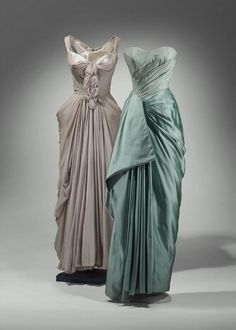 Charles James gowns, 1951- Ahhh, I love me some Charles James.  Nothing like a designer who died penniless and alone in the Chelsea Hotel.