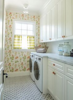 Nostalgic And Cheerful Laundry Room Alison Kandler Interior Design Find This Pin More On What Best Color To Paint With No Windows