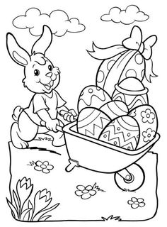 Easter coloring page, Easter Coloring Pages Printable, Easter Coloring Sheets, Easter Bunny Colouring, Bunny Coloring Pages, Coloring For Kids, Coloring Pages For Kids, Coloring Books, Easter Coloring Pictures, Easter Paintings