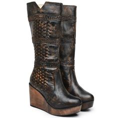 Women's Bed Stu Cordoba Wedge Boots size 7 #BedStu #FashionMidCalf