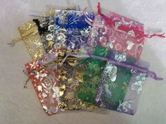 '25 Organza Bags ~ Huge variety of colors!' is going up for auction at  5pm Wed, Aug 21 with a starting bid of $5.