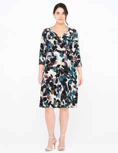 Grace Jersey wrap dress in Turquoise / Versicolour