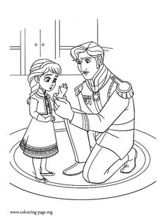In this scene, the young Elsa is forced to wear gloves to keep everyone safe from her powers. Print it out and enjoy this amazing Disney Frozen movie coloring sheet!