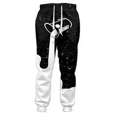 Galaxy Milk Dripping 3D Print Women Men Casual T-Shirt Jogger Pant Tracksuit Set