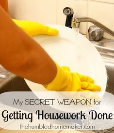 My Secret Weapon for Getting Housework Done.  And I'm excited to share something I've found to make the job more fun, less boring and, dare I say, easier!  And this secret weapon is FREE!