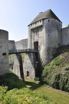 Castillo de Caen, Normandía, Francia. c construido. 1060.