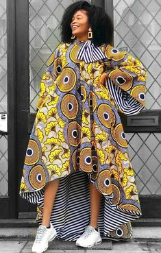 Call, SMS or WhatsApp if you want this style, needs a skilled tailor to hire or you want to expand more on your fashion business. Latest African Fashion Dresses, African Dresses For Women, African Print Dresses, African Print Fashion, African Attire, African Wear, African Women, Ankara Gowns, Ankara Dress