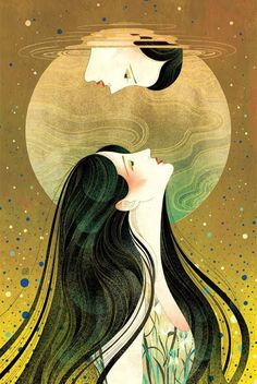 Art by Victo Ngai for the short story 'Waiting On A Bright Moon' by JY Yang, available to read at Tor.com