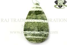 Green Zebra Jasper Faceted Focal Pear Pendant (Quality A) Shape: Focal Pendant Piece Length: N.A. Weight Approx: 12 to 14 Grms. Size Approx: 29x49 mm Price $13.00 Each Strand