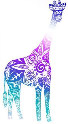 tribal giraffe pink - Google Search