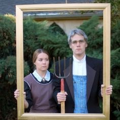 Did This American Gothic Couple Escape Their Placement In The Art Institute Of Chicago Artist Grant Wood Behind Painting