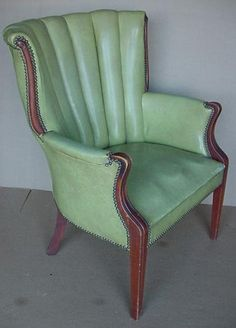 vintage wingback highback library den office chair by Junkaholics