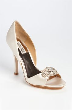 Badgley Mischka @ Nordstrom...soft and elegant color for a wedding...just enough to pop against a white or ivory dress!