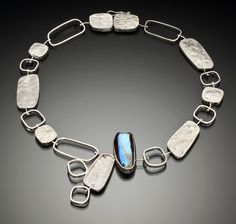 Necklace | Lori Gottlieb. Boulder opal, argentium silver