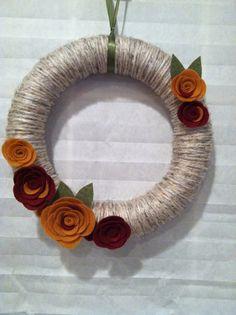 Harvest Yarn wreath - $25