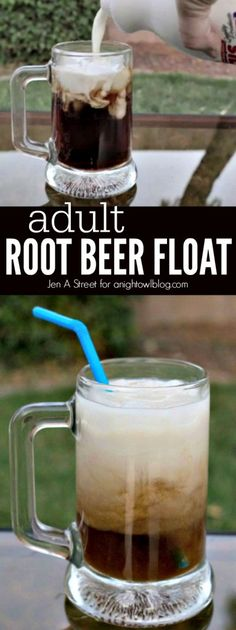 Adult Root Beer Float - all the great taste plus a little extra for the adults!