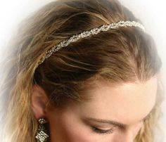 CRYSTAL HEADBAND FOR PROMS WEDDINGS & FORMAL OCCASSIONS by VT. $34.95. Add sparkle to your appearance with this delicate and elegant crystal headband.  Meticulously hand-set chain of crystals.  Excellent for prom, wedding, or formal attire.