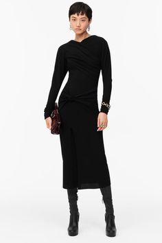 VESTIDO DRAPEADO LIMITED EDITION | ZARA España Draped Fabric, Draped Dress, Shoulder Pads, Dress Making, Wool Blend, Zara, High Neck Dress, Neckline, Dresses For Work