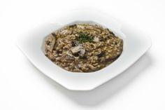 Receita de risoto de cogumelos e azeite de trufas