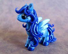 Sapphire Pegasus by DragonsAndBeasties on Etsy