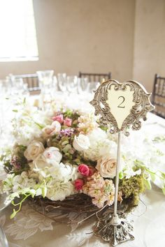 Vintage Metal Frame Table Numbers