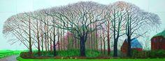 Laberintos vs. Jardines: David Hockney_Azules y violetas_Royal Academy of Arts