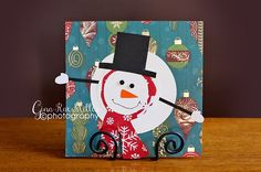 Gina Rae Miller Photography Christmas Crafts-Melted snowman card