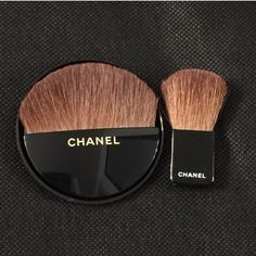 CHANEL make up brush! Brand new never used small round make up brush, comes in black velvet Chanel pouch! I have a few to sell so that is why there are multiple listings for this item :) bundle them up for a deal if you'd like! Yes authentic- everything in my closet is! CHANEL Makeup Brushes & Tools