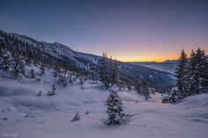Winter Sunset - Sunset mood in the tyrolean alps.