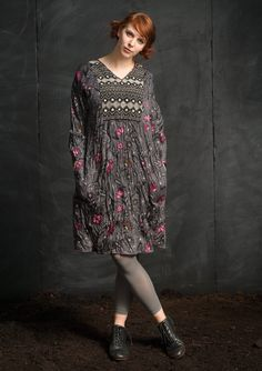 """""""Midvinter"""" dress in eco-cotton – Theme Iceland – GUDRUN SJÖDÉN – Webshop, mail order and boutiques 