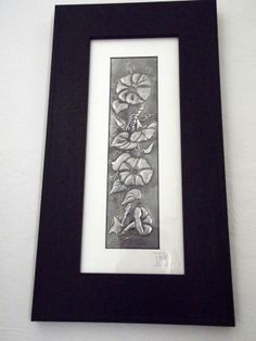 Morning Glory Pewter Repousse Picture £65.00