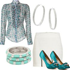 """""""Ruffles and Jade"""" by barbara-nonegativeoptions-gillespie on Polyvore"""