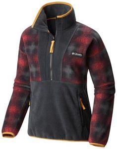 Columbia Women's CSC Originals Fleece Pullover Mountain Red Ombre Plaid XL