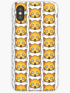 'Happy Pixel Cat ' iPhone Case by proudnothing Cool Iphone Cases, Iphone Case Covers, Semi Transparent, 8 Bit, Gift Ideas, Cats, Mini, Happy, Stuff To Buy
