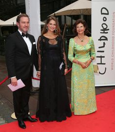 Queen Silvia, Princess Madeleine of Sweden and Chris O'Neill attended the World Childhood Foundation banquet 9/8/14