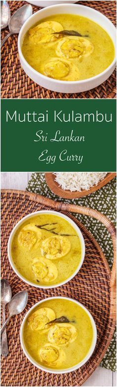 Muttai Kulambu, Egg Curry, from Sri Lanka: The Cookbook.   #ad #recipe #muttai #kulambu #egg #curry #SriLanka #SriLankan #turmeric #Asia #Asian