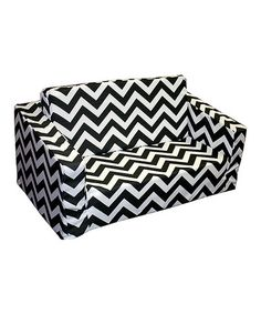Take a look at this Black & White Zigzag Flip Sofa by Newco on #zulily today!