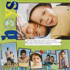 scrapbook page layouts | Scrapbooking Pages with Many Photos