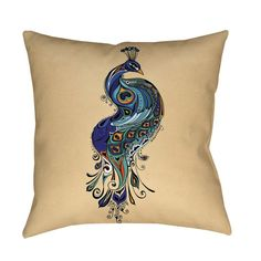 Thumbprintz Peacock Indoor/ Outdoor Decorative Throw Pillow