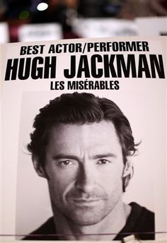 Les Mis (2012) | At rehearsals for the 2013 Oscars, nominee Hugh Jackman's seat card